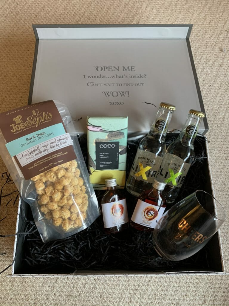 Gin Cocktail gift box from the Gifted Food Co