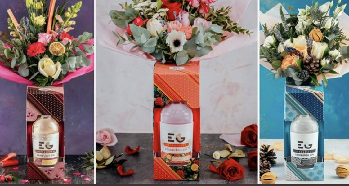 Edinburgh Gin botanical bouquets