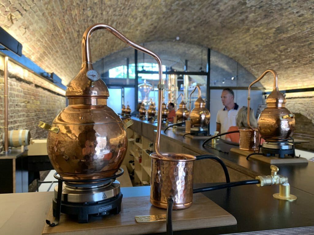 Mini still at 58 gin distillery and gin making experience