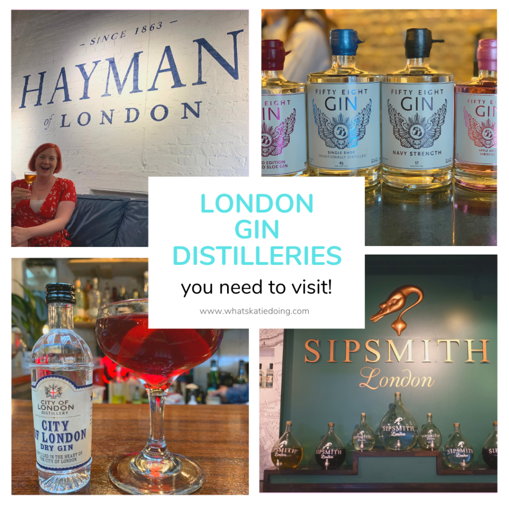 London Gin Distilleries you need to visit on What's Katie Doing?