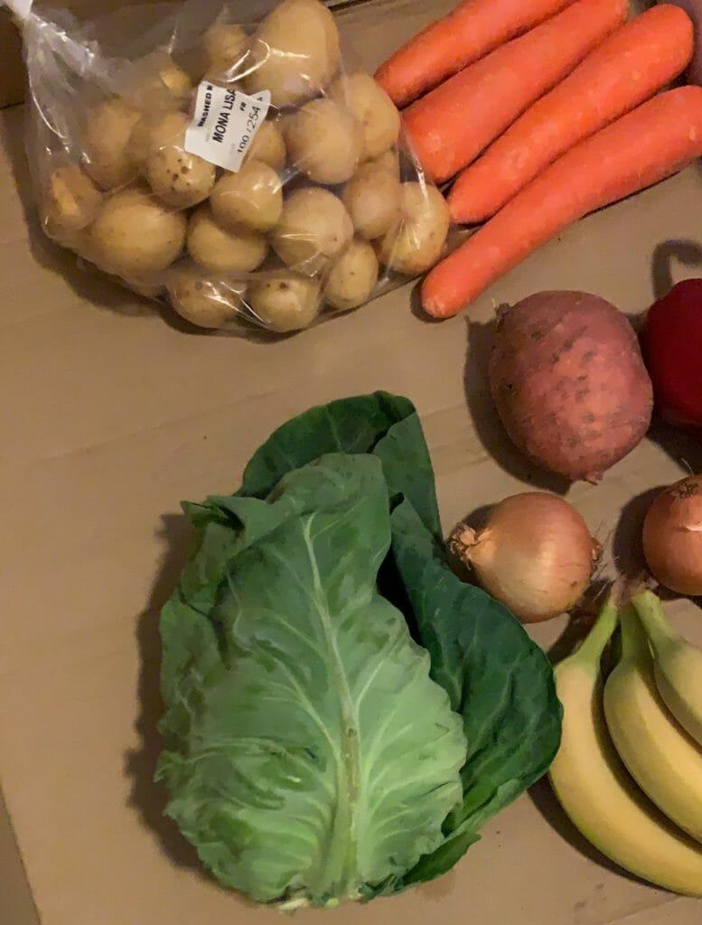 A box of veggetables