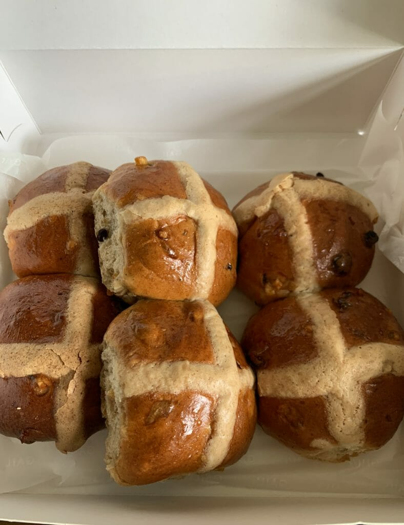 Hot Cross Buns delivered in the Easter box