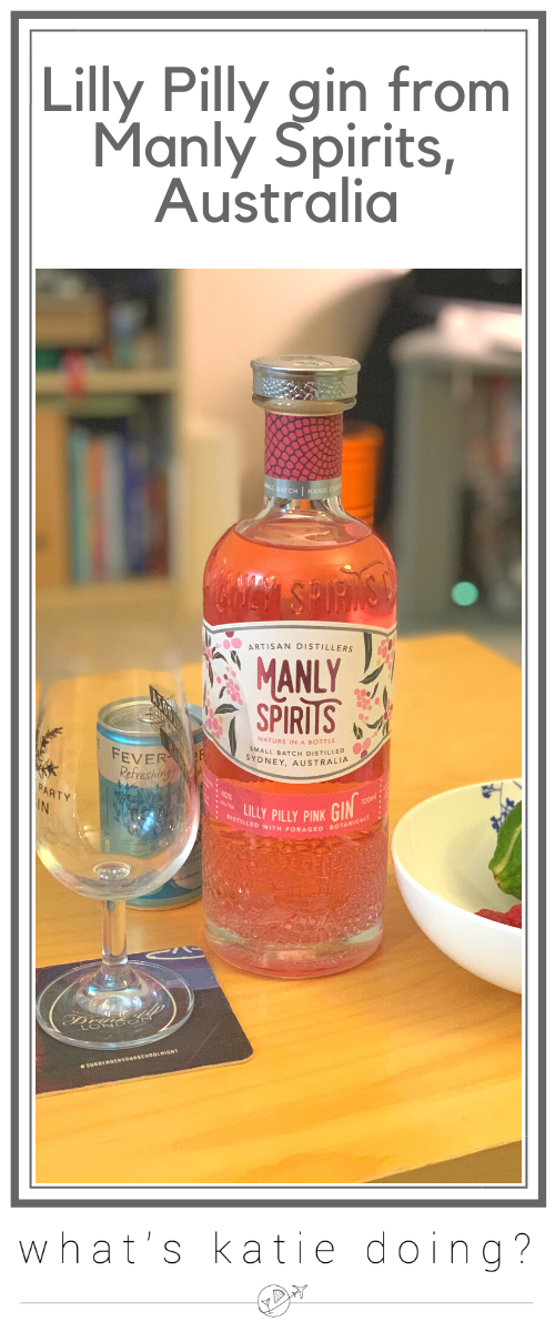 Lilly Pilly gin from Manly Spirits, Australia