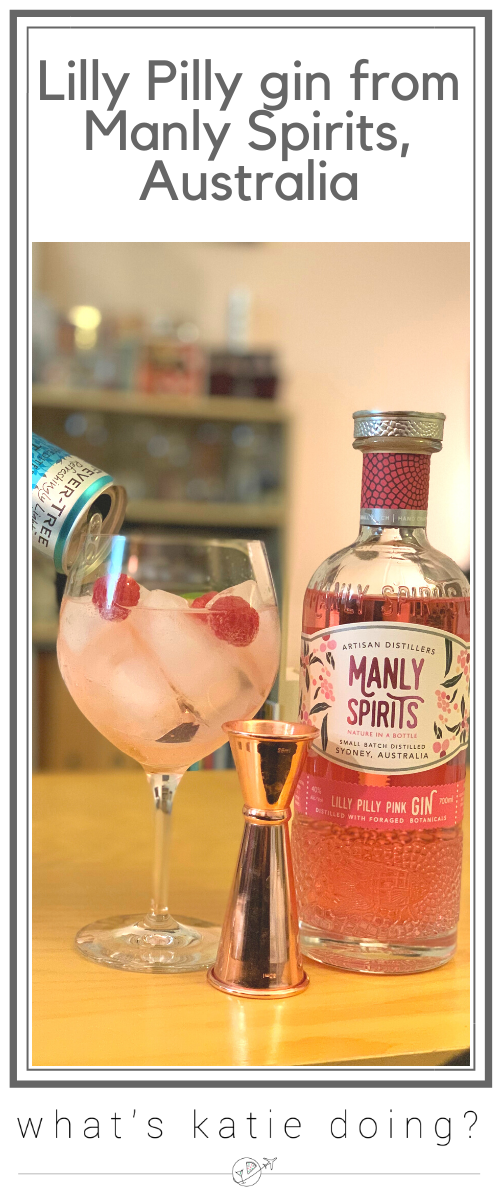 Lilly Pilly gin and tonic perfect serve from Manly Spirits