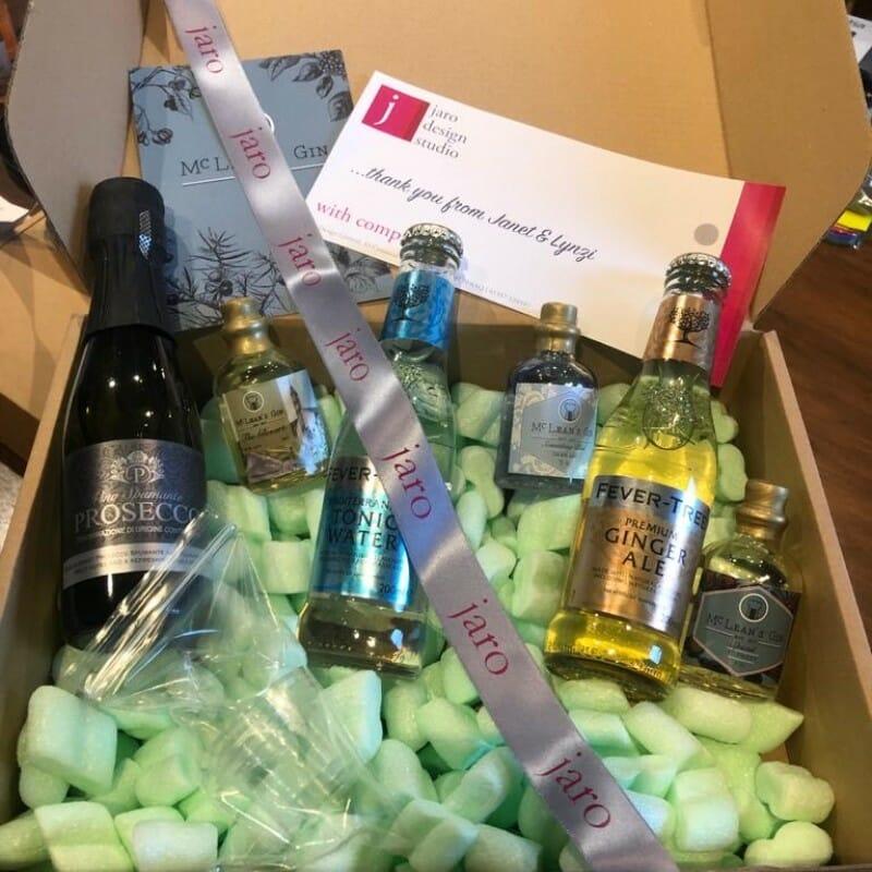 McLeans gin tasting box