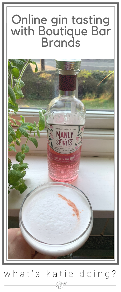 Online gin tasting of Manly Spirits Lilly Pilly gin