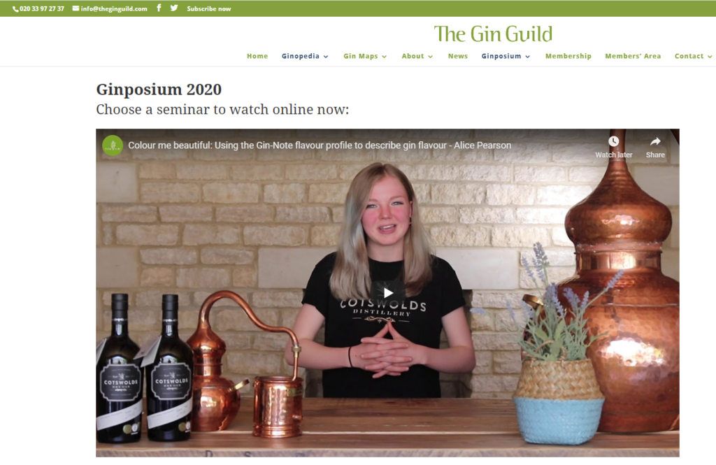 The GIn Guild Ginposium - on demand virtual events