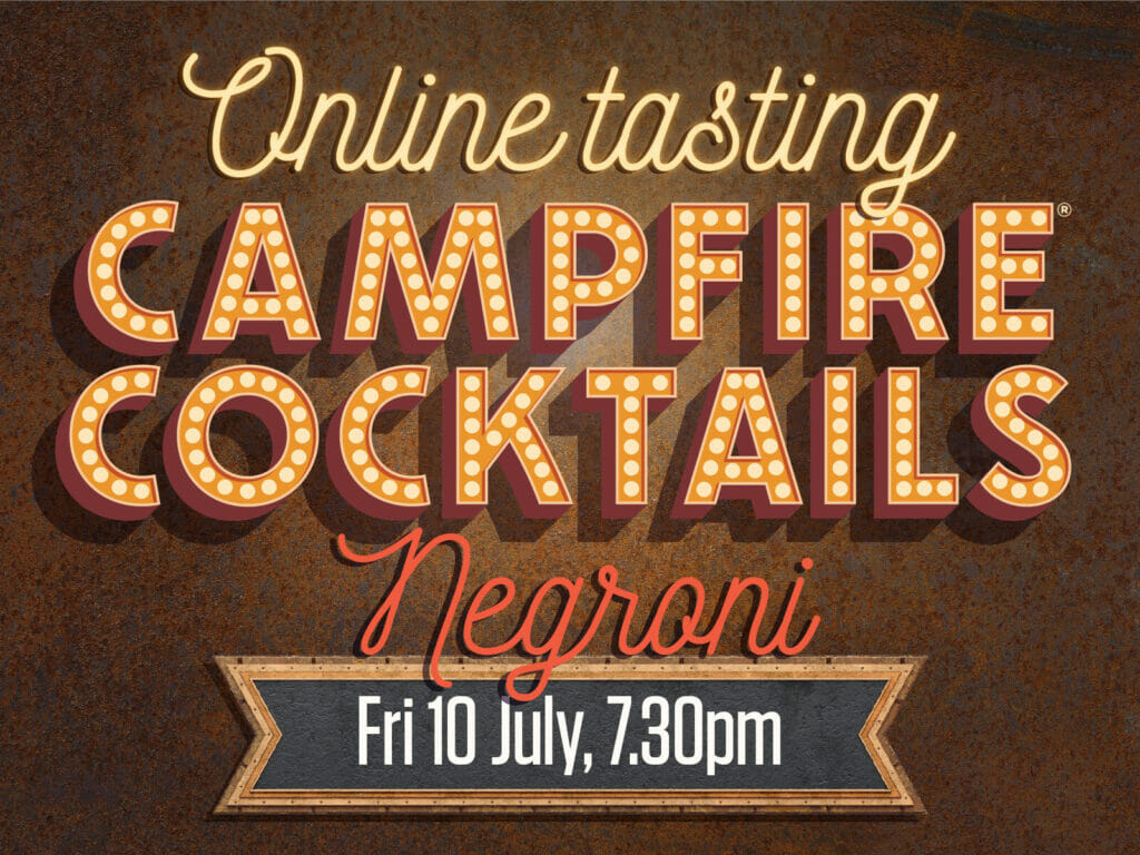Campfire Cocktails at home - negroni night - from Puddingstone Distillery