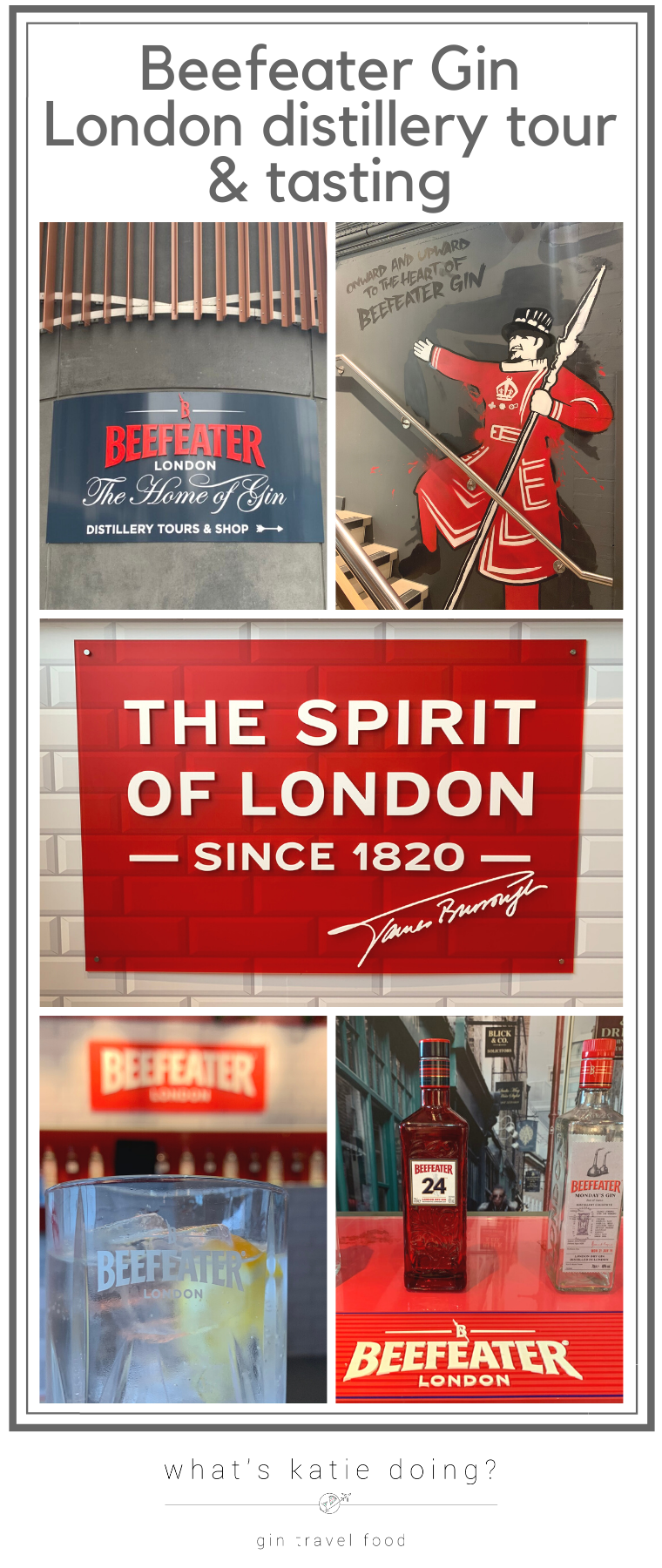 Beefeater gin tour - a London distillery tour and tasting