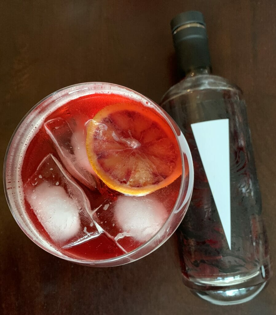 Victory bitters with Blood Orange soda