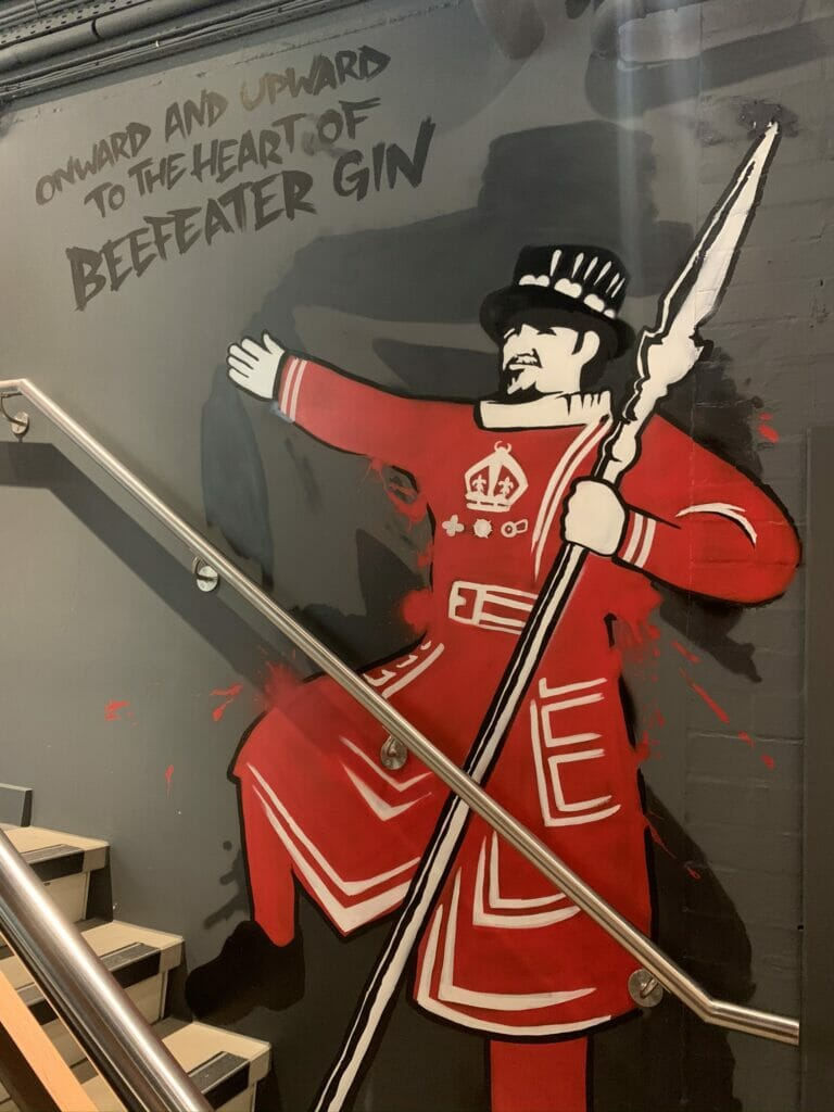 Beefeater directing us up the stairs