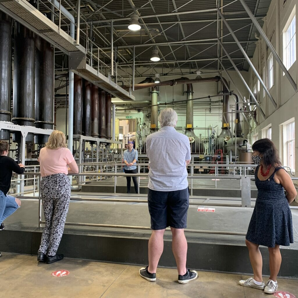 Inside the still room on the tour