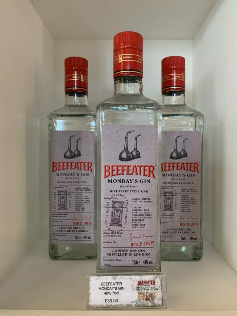 Beefeater Monday's gin - a distillery exclusive