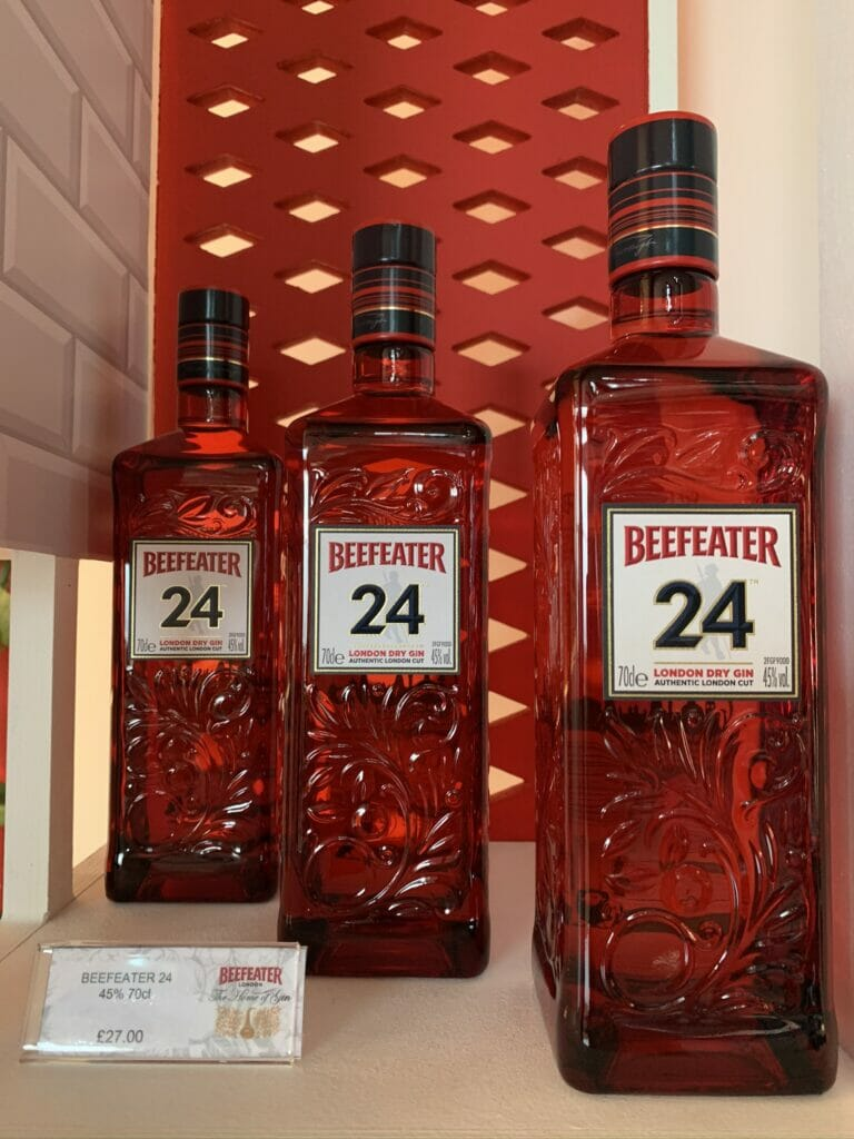 Beefeater 24 in its distinctive red bottle