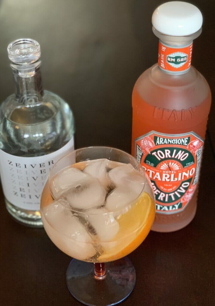 Zeiver gin and Arancione aperitif spritz