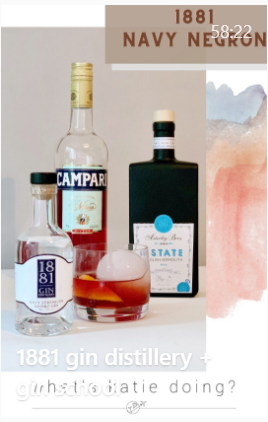 IGTV with 1881 distillery & competition to win an overnight gin school experience for two
