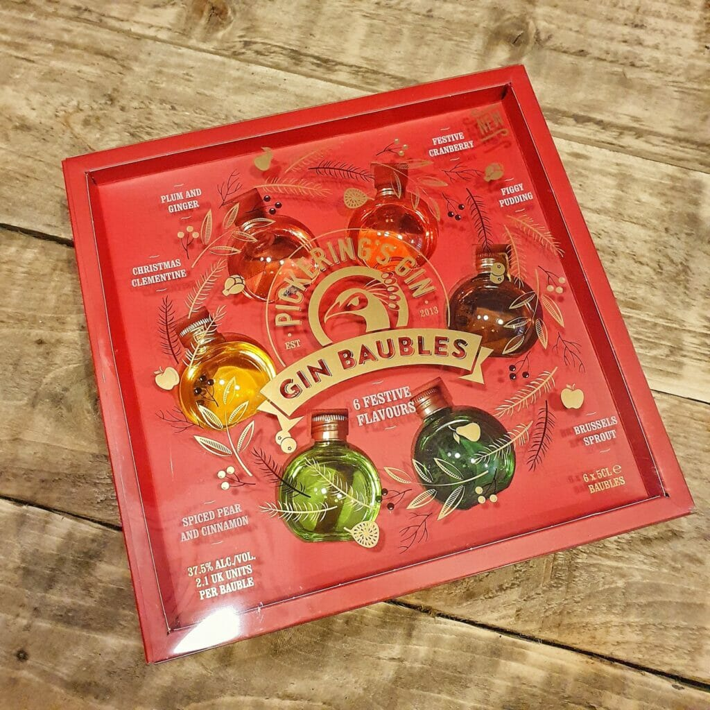 Pickering's gin festive flavoured gin baubles