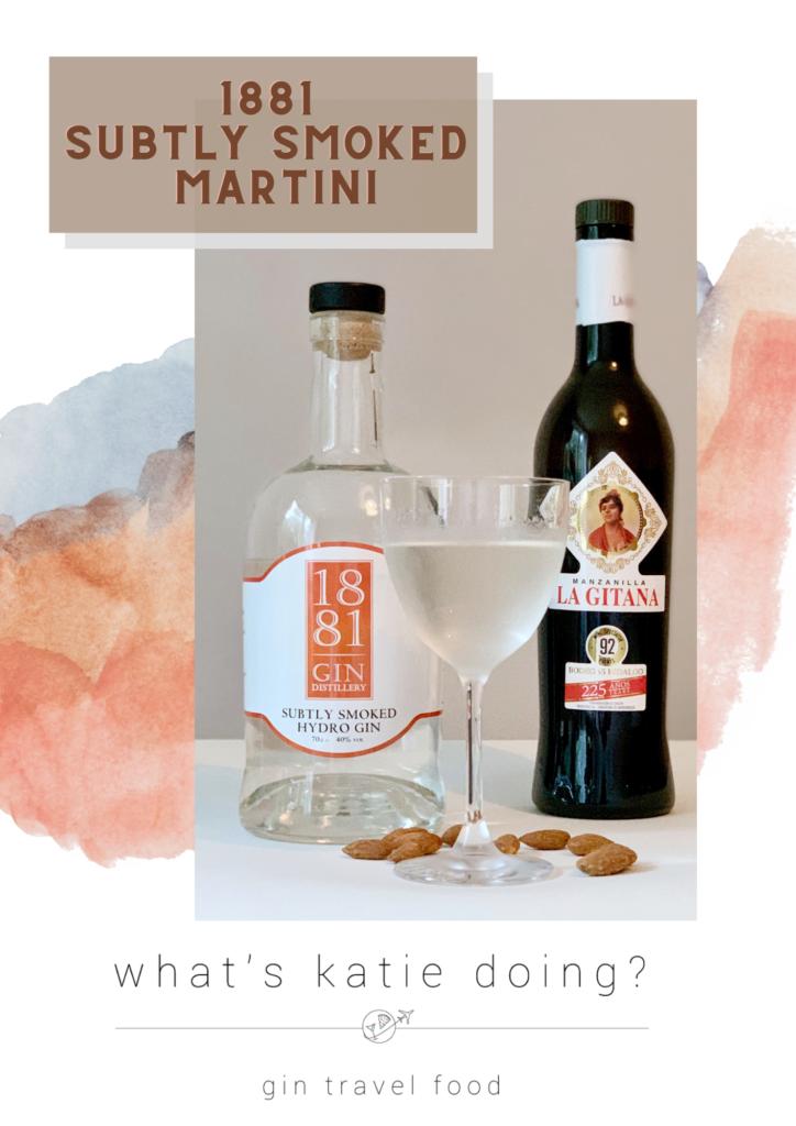 1881 Distillery Subtly Smoked Martini