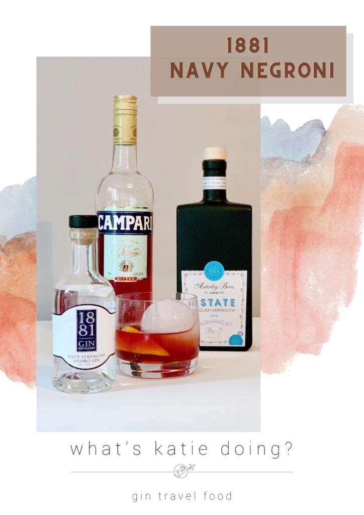 1881 Distillery Navy Negroni cocktail