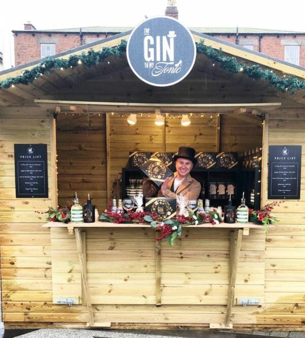 The Gin to My Tonic Christmas market stall