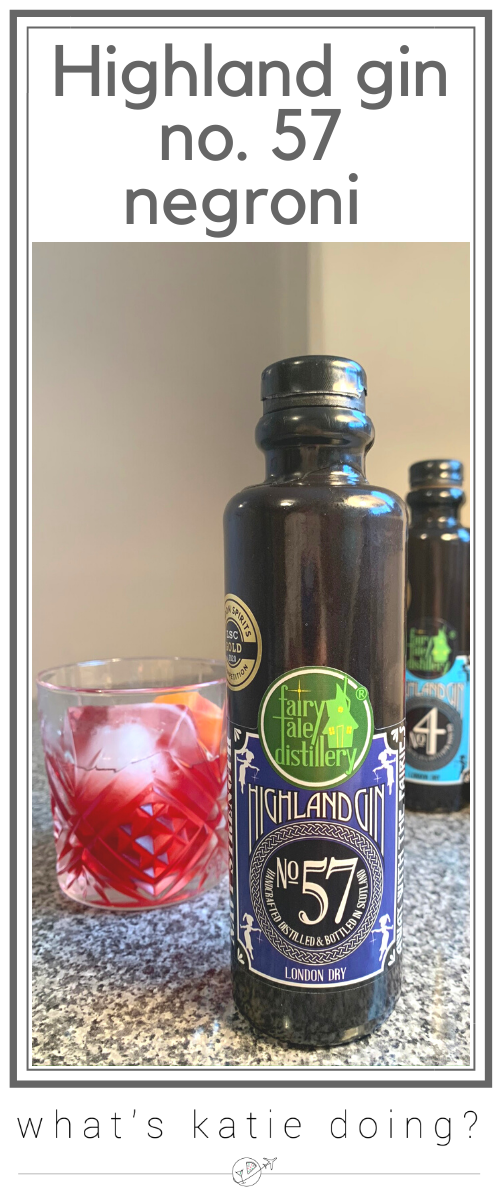 Highland gin no. 57 negroni, Fairytale distillery