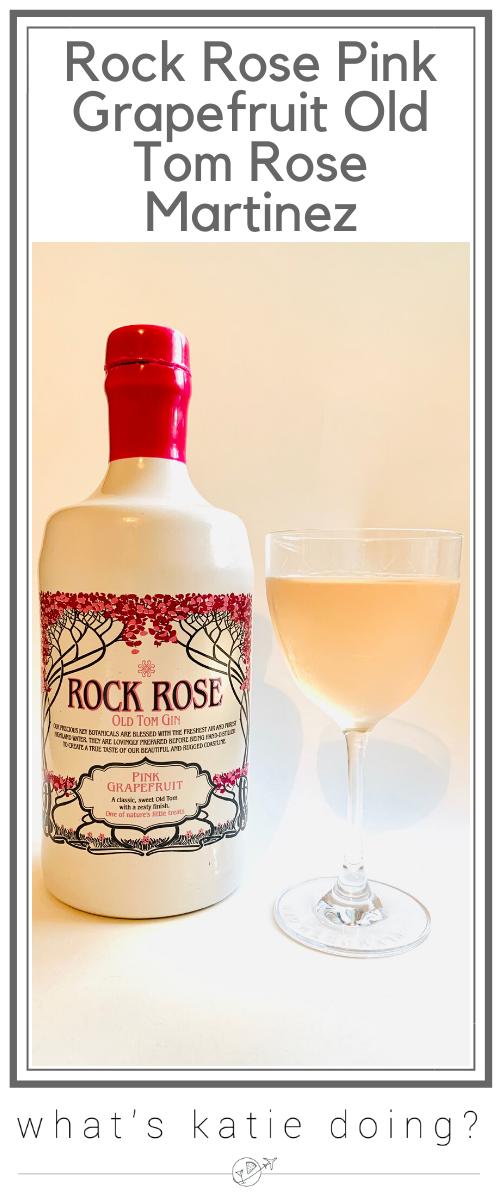 Rock Rose Pink Grapefruit Old Tom Rose Martinez cocktail