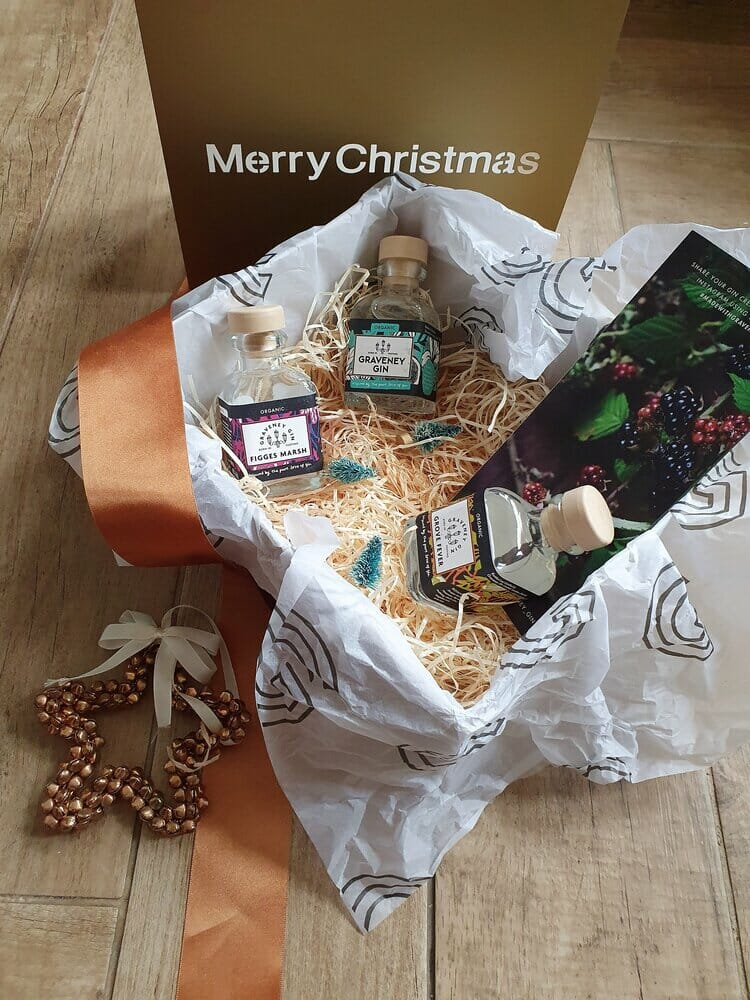 Graveney three small gins of christmas hamper