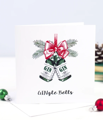 GINgle bells card from Of Life and Lemons