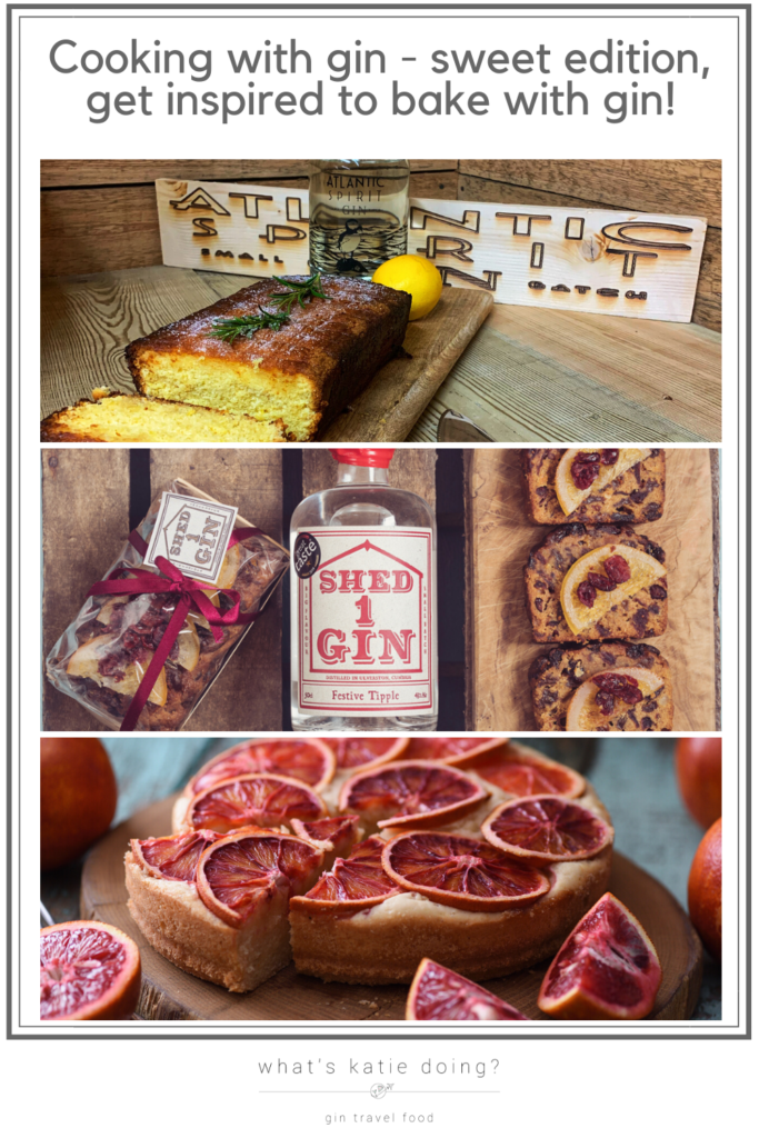 Cooking with gin - sweet edition, get inspired to bake with gin!