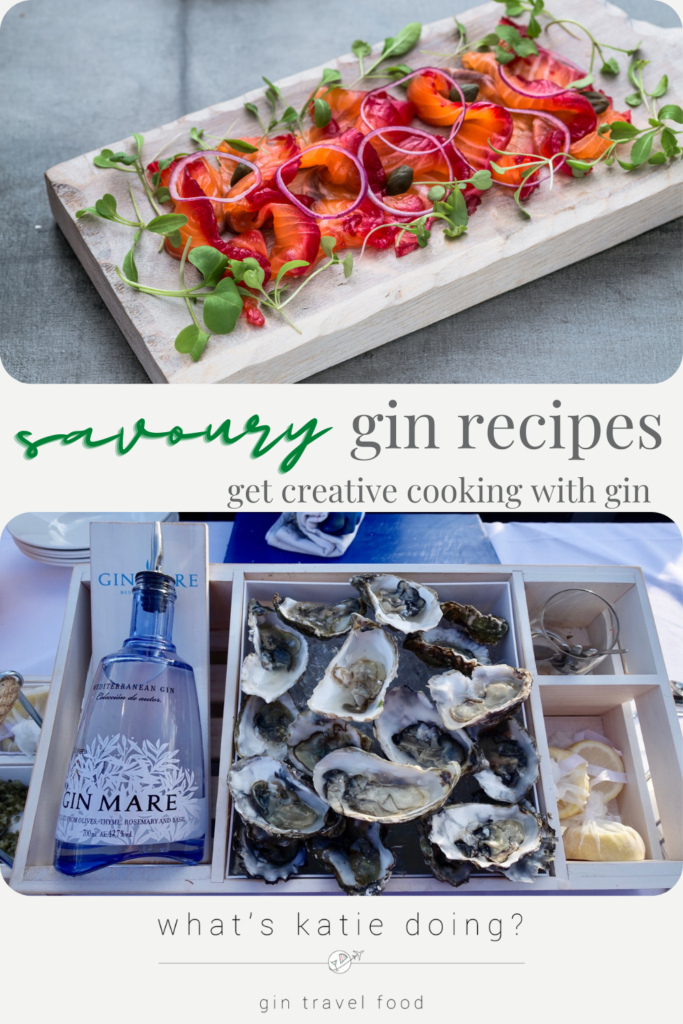 Cooking with gin: savoury edition, recipes for cooking savoury dishes using gin