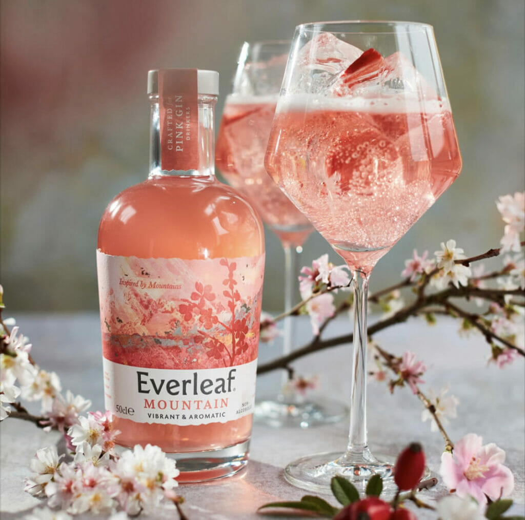 Everleaf Mountain with tonic and strawberries
