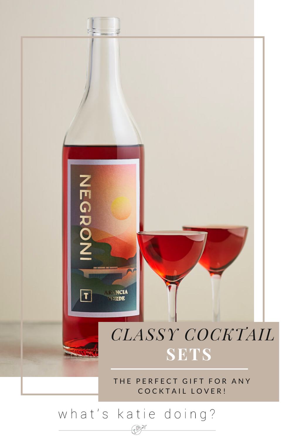 Classy Cocktail Sets - Untitled Bar Termini negroni and rose liqueur glasses