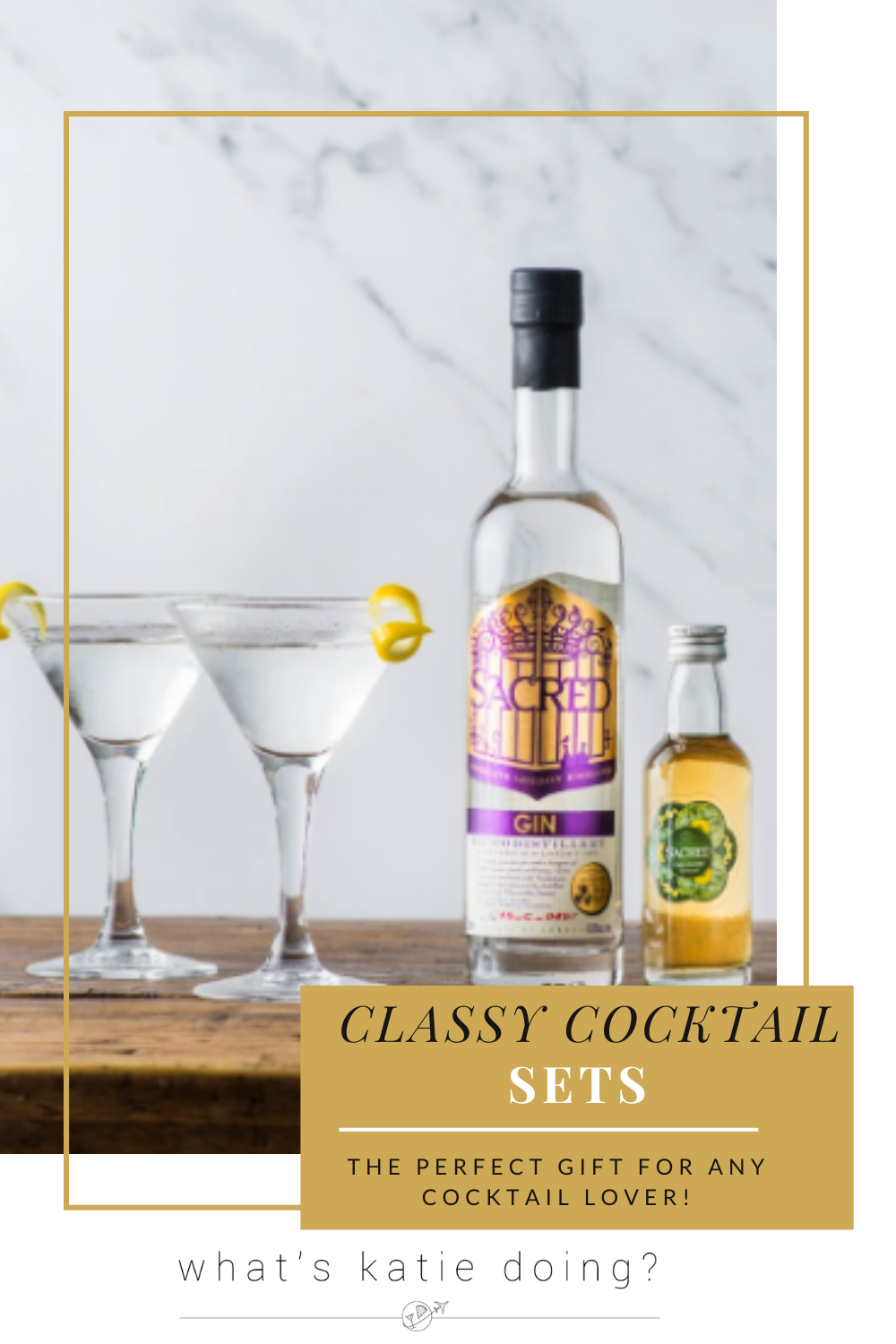 Classy cocktail sets - the mini martini bundle with Sacred Gin