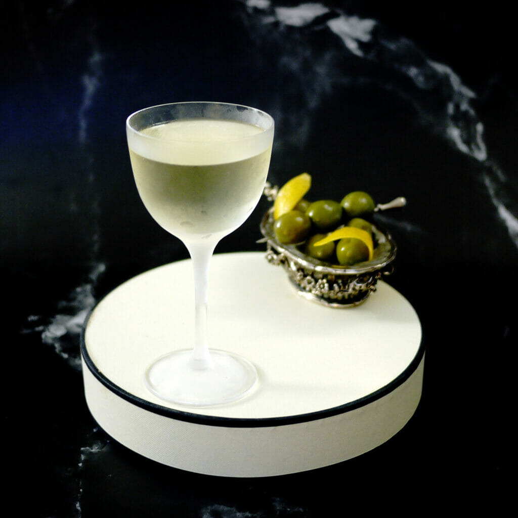 Martini served with olives